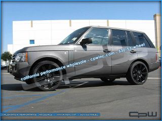 "22"" inch Matte Black Land Rover Range Sport LR3 Stormer II Wheels Rims Tires New"