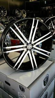 22 inch Borghini Rims Wheels Tire Package Ford Chevy Infiniti Nissan Kia Honda