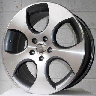 "18"" Audi A6 08 11 Facelift Gunmetal Polished Alloy Wheels 5x112"
