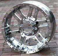 18 inch Chrome Moto Metal 951 Wheels Rims Chevy GMC HD Dodge 8 Lug Trucks 8x6 5