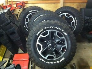 2013 Jeep Rubicon Factory Black Wheels Rims Tires '07 '13 10th Anniversary