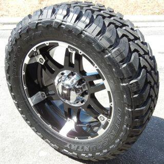 """20x9"""" Black KMC XD Spy Wheels Toyo Open Country MT Dodge RAM 1500 5x5 5 4x4 Hemi"""