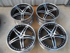 "20"" Chrome Staggered Wheels Rims 5x112 Mercedes S550 CL550 S500 CL500 Audi A8"