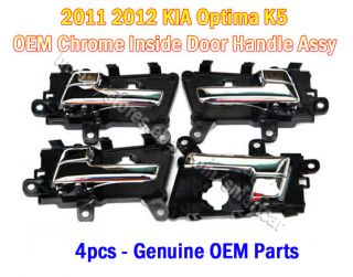 2011 2012 Kia Optima K5 Interior Door Inside Handle Assy 4pcs Genuine