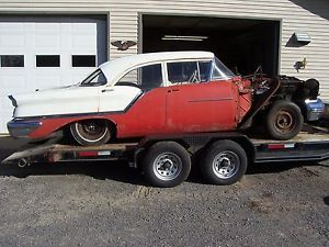 1957 Oldsmobile 88 Eighty Eight 4 Door Sedan Project Parts Rat Rod Hot Rod Car