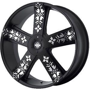 20x8 5 Black KMC KM669 Wheels 5x115 5x120 18 BMW 5 Series 530i 5 Series 550 M5
