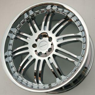 KMC Dime 22 x 9 5 Chrome Rims Wheels Range Rover Sport 06 Up 5H 38