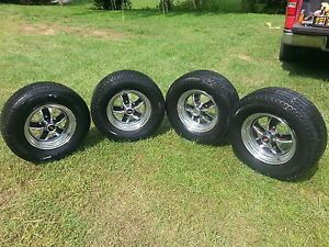 """Set of 4 Olds 442 Chrome Oldsmobile 14"""" Rally Wheels Cutlass 1966 86 GM Factory"""