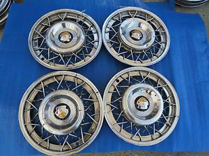 "1 Set 1953 1954 1955 Oldsmobile Olds 15"" Mimetic Wire Wheel Hubcaps SA4"