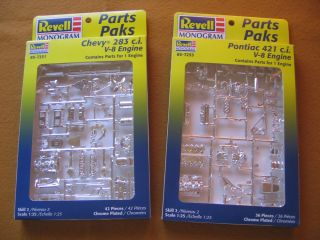 Revell Rat Rod Chevy Engine and Pontiac 421 Parts Pack 2MINT CLOSEOUT Sale
