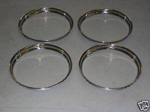 1960 62 Pontiac 8 Lug Aluminum Wheel Trim Ring Set