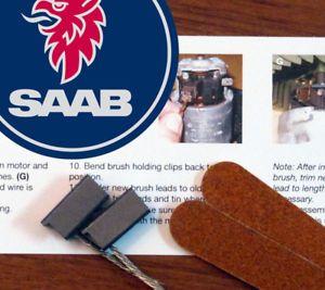 Saab 95 Blower Heater Cabin Motor Fan Repair Rebuild Kit Brushes 9 5