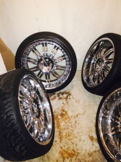 KMC Dime 22 inch Rims and Tires