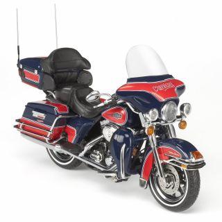 Cleveland Indians MLB Harley Davidson Diecast Motorcycle Model 1 12