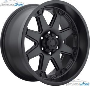 17x9 Ultra 198 Bolt 8x165 1 8x6 5 0mm Matte Black Wheels Rims inch 17""