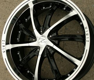 "Zinik Luni Z25 20"" Black Rims Wheels Ford Fusion 06 Up 20 x 8 5 5H 40"