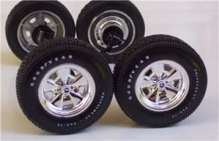 Goodyear Tires Chevy Chrome Rally Wheels 1 18 Car Parts