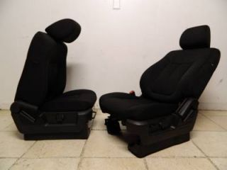 2009 2010 2011 2012 Ford F 150 F150 FX4 Front Black Cloth Power Bucket Seats