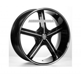 "24"" inch AC55BM Wheels and Tires Rims for 300C Charger Magnum Challenger"