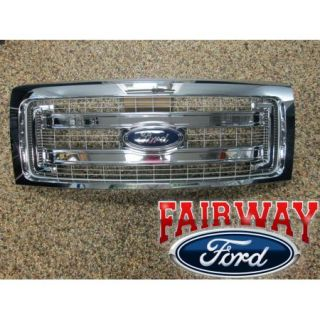 09 10 11 12 13 14 F 150 Genuine Ford Parts XLT Chrome Grille with Emblem New