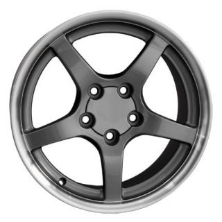 C5 Fits Corvette Wheels 18 17 Deep Dish Gunmetal ZR1 C4