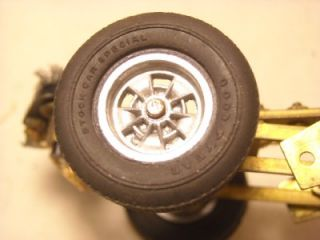 "Vintage Mura Slot Car Motor w Frame Goodyear ""Stock Car Special"" Tires"