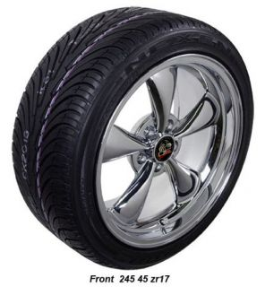 """17"""" 9 10 5 Chrome Bullitt Wheels Tires Bullet Rims Fit Mustang® GT '94 '04"""
