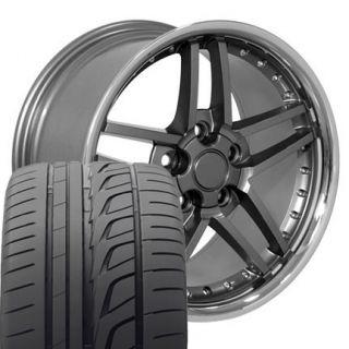 "17"" 18"" Gunmetal Z06 Wheels Bridgestone Tires Rims Fit Camaro Corvette"