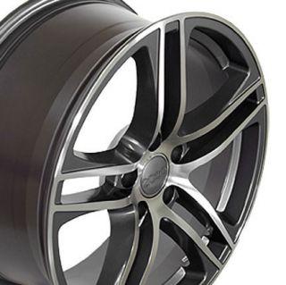 "17"" Gunmetal R8 Style Wheels Set of 4 Rims Fit Audi A4 A6 A8 Allroad"