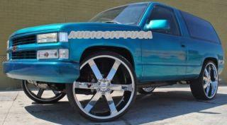"26"" AC55 CH Wheels and Tires Rims for Chevy Tahoe Escalade Silverado RAM Yukon"
