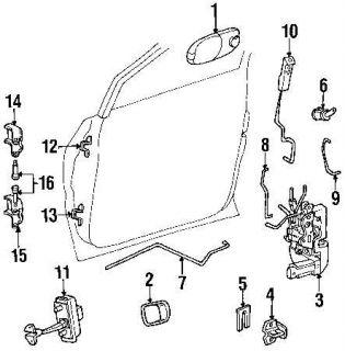 Front Door Latch Lock Assembly Dodge Chrysler Plymouth Minivan Mini Van Electric