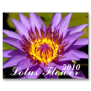 2010 , Lotus Flower Wall Calendar