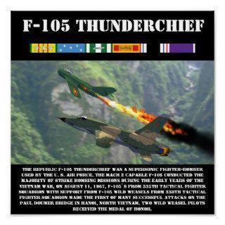 F 105 Thunderchief 12 x 12 print