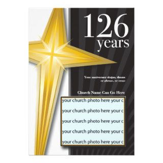 Customizable 126 Year Church Anniversary Custom Invites
