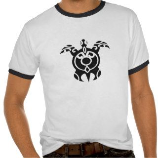 Vintage Tribal Turtle Tattoo Design Tshirt