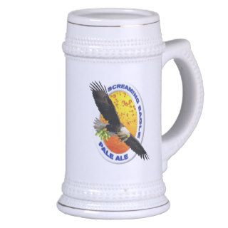 Screaming Eagle Pale Ale Beer Stein Mugs