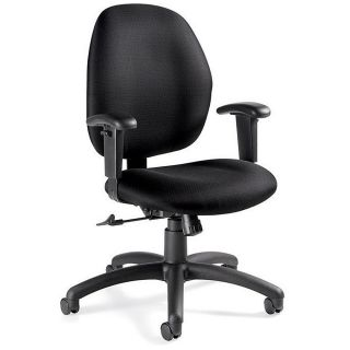 Global Graham Pneumatic Ergo Tilter Chair 37 12 H x 25 W x 26 D Black Frame Asphalt Fabric