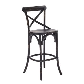 Zuo Era Union Square Bar Stool 44 25 H x 18 W x 19 710 D Black