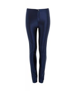 Kelly Brook Navy High Shine Disco Pants