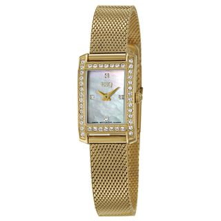 ESQ by Movado Women's 'Neve' Stainless Steel Yellow Goldplated Swiss Quartz Watch ESQ Women's ESQ Watches