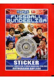 Topps   Fu�ball Bundesliga Saison 2010/2011 Sticker Display (50 T�ten): Spielzeug