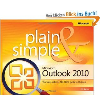Microsoft Outlook 2010 Plain & Simple: Jim Boyce: Englische Bücher