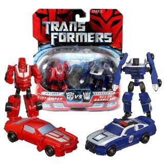 Hasbro Year 2007 Transformers Movies All Spark Battles Series 2 Pack Legends Class 3 Inch Tall Robot Action Figure   Autobot CLIFFJUMPER (Vehicle Mode: Classic Camaro) versus Decepticon RECON BARRICADE (Vehicle Mode: Saleen S281 Police Car): Toys & Gam