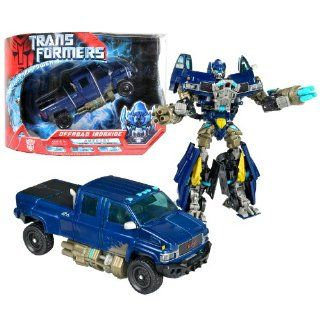 Hasbro Year 2007 Transformers Movie All Spark Power Series Voyager Class 7 Inch Tall Robot Action Figure   Autobot OFFROAD IRONHIDE with Quad Missile Cannons and 4 Missiles (Vehicle Mode: GMC Topkick Pick Up): Toys & Games