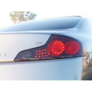 Infiniti G35 2Dr Tail Lights Taillight Overlays GTR Style 2003 2004 2005 2006 2007 2008 2009 03 04 05 06 07 08 09