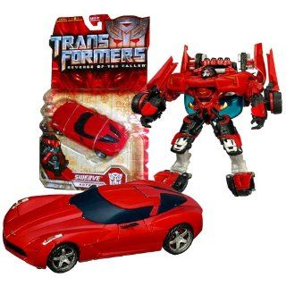 """Hasbro Year 2009 Transformers Movie Series 2 """"Revenge of the Fallen"""" Deluxe Class 6 Inch Tall Robot Action Figure   Autobot SWERVE with Deployable Blades and Shifting Battle Armor (Vehicle Mode: Corvette Stingray Concept Mode): Toys & Games"""