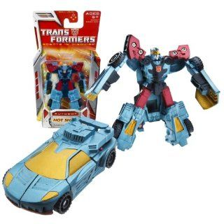Hasbro Year 2007 Transformers Classic Series Legends Class 3 Inch Tall Robot Action Figure   Autobot HOT SHOT (Vehicle Mode: Sports Car): Toys & Games
