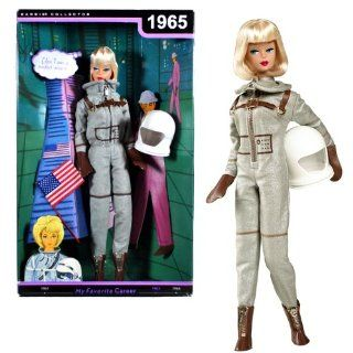 "Mattel Year 2009 Barbie Collector Classic 1965 Reproduction ""My Favorite Career"" Series 12 Inch Doll   Miss ASTRONAUT (Rocket Scientist) with Astronaut Outfit, Helmet, Doll Stand and Certificate of Authenticity (R4474): Toys & Games"