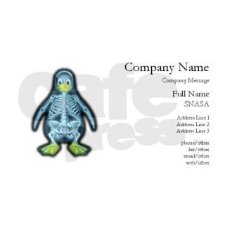 X Ray Linux Penguin   X Ray T Business Cards by Admin_CP1756577