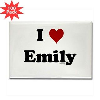 I love Emily Rectangle Magnet (100 pack) by luv2all